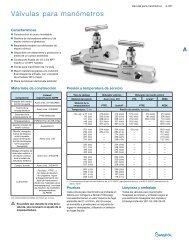 Válvulas para Manómetros (MS-01-52;rev_7;es-ES) - Swagelok