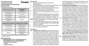 Instrucciones de Sustitución de la Empaquetadura de ... - Swagelok