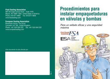 Procedimientos para instalar empaquetaduras en válvulas y bombas