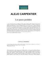 ALEJO CARPENTIER Los pasos perdidos ALEJO ... - Taller Literario