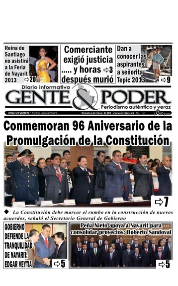Miércoles 6 de Febrero de 2013 - Gente y Poder
