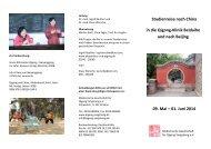 Studienreise nach China in die Qigong-Klinik Beidaihe und nach ...