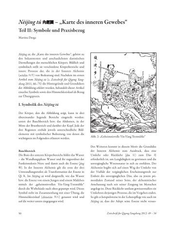 """Nèijīng túܻ೪ – """"Karte des inneren Gewebes"""" - Qigong Yangsheng"""
