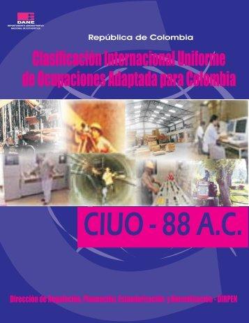 Documento CIUO-88 A.C. - DANE