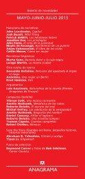 Boletín de novedades en PDF - Editorial Anagrama