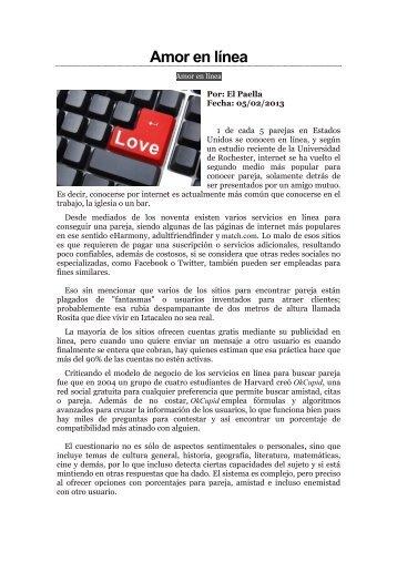 Amor en línea - Repositorio Digital