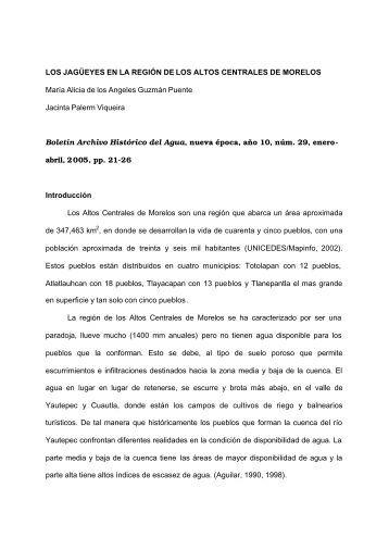 Los jagüeyes en la región de los Altos - Organización social y Riego