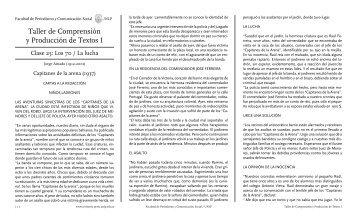 Taller de Comprensión y Producción de Textos I - Facultad de ...