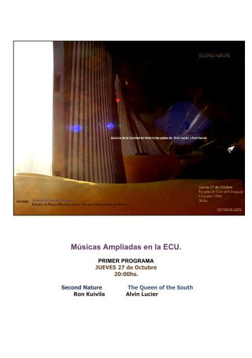 Músicas Ampliadas en la ECU. - Escuela Universitaria de Música