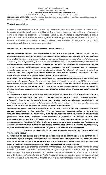 Texto Argumentativo En el texto argumentativo, el ... - WebColegios