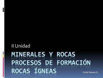 Minerales y Rocas Procesos de Formación
