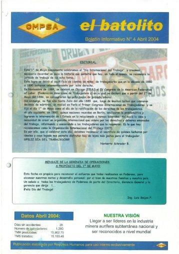 BgLetín Informativo N° 4 Abril 2004 - Poderosa