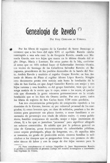 Genealogía de Ravelo - BAGN