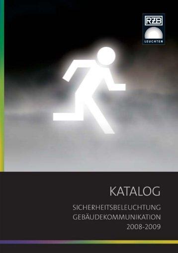 RZB - Katalog Sicherheitsbeleuchtung ... - R. Quandt