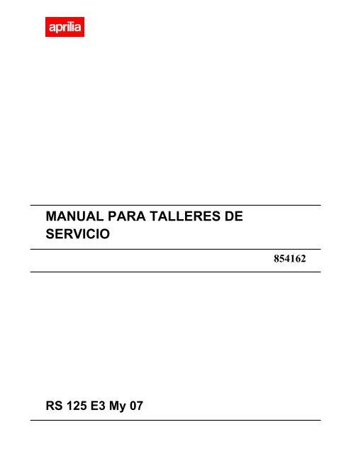 manual de taller aprilia rs 125 espa ol