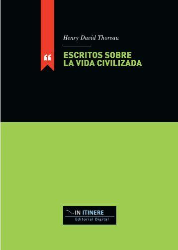 Escritos sobre la vida civilizada - Universidad de Oviedo
