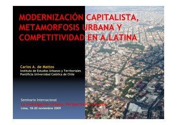 modernización capitalista, metamorfosis urbana y competitividad en ...