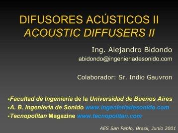 Difusores Acústicos II - Facultad de Ingeniería