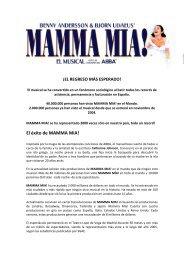 El éxito de MAMMA MIA! - Teatro Auditorio Buero Vallejo