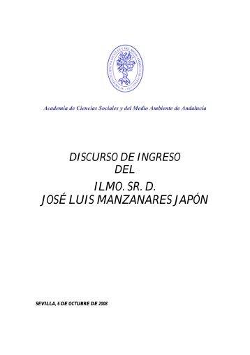 ILMO. SR. D. JOSÉ LUIS MANZANARES JAPÓN - Academia de ...
