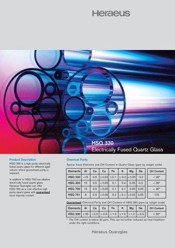 HSQ 330 high - Aachener Quarz-Glas Technologie Heinrich