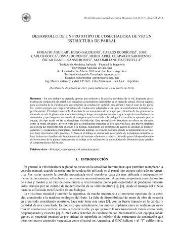 DESARROLLO DE UN PROTOTIPO DE COSECHADORA ... - UNED