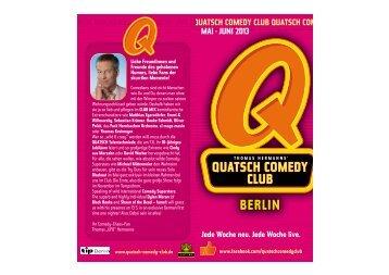 flyer download - Quatsch Comedy Club