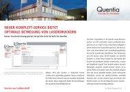 neuer komplett-service bietet optimale betreuung ... - Quentia GmbH