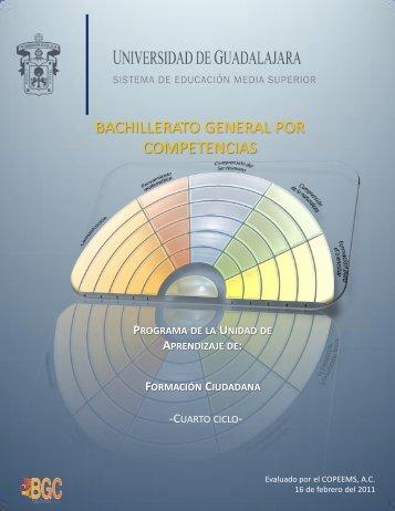 BGCUDG C4 Formación ciudadana 160211 - Sistema de Educación ...