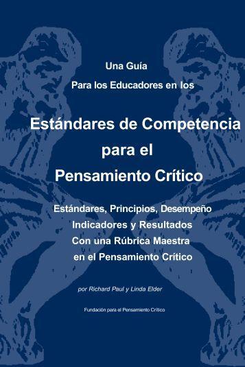 Estándares de Competencia para el Pensamiento Crítico