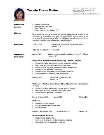 Asistente para currículos - Páginas Personales UNAM - Universidad ...