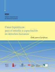 Casos hipotéticos para el estudio y capacitación en - Instituto ...