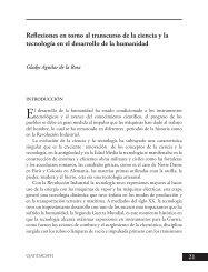 Reflexiones en torno al transcurso de la ciencia y la ... - Publicaciones