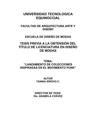 capitulo i movimiento punk - Universidad Tecnológica Equinoccial