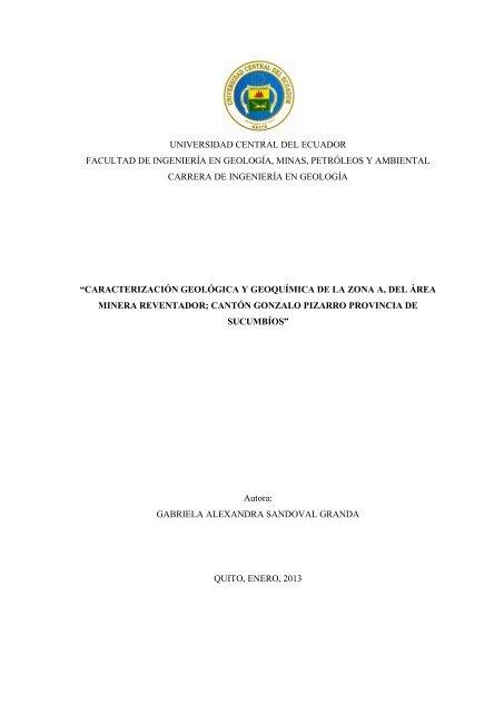 Universidad Central Del Ecuador Facultad De Ingeniería En