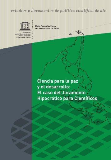 Ciencia para la paz y el desarrollo: el caso del ... - unesdoc - Unesco