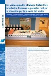 Las visitas guiadas al Museo ANFACO de la Industria Conservera ...