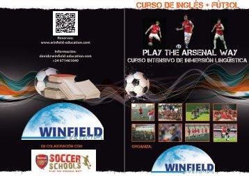 Folleto del curso - Campus Inglés y fútbol