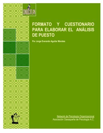 Formato y cuestionario para elaborar el análisis de ... - Conductitlan