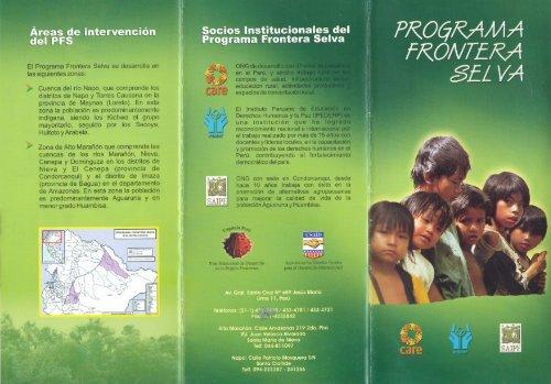El Programa Frontera Selva se desarrolla en las ... - CARE Perú