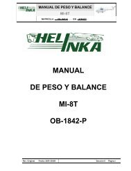 MANUAL DE PESO Y BALANCE MI-8T OB-1842-P - Helinka