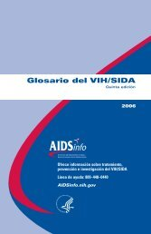 Glosario del VIH/SIDA - AIDSinfo - National Institutes of Health