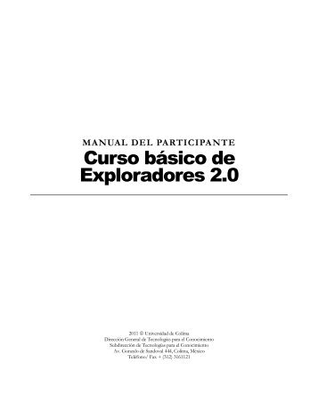 Curso básico de Exploradores 2.0 - Biblioteca virtual - Universidad ...