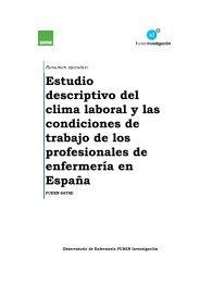 Estudio descriptivo del clima laboral y las condiciones de ... - Satse