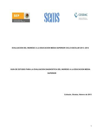 Imprimir Guia - Colegio de Bachilleres del Estado de Sinaloa