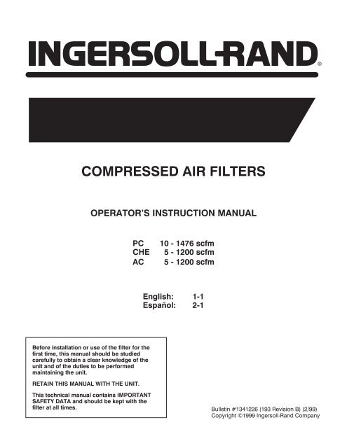 39240882 Element Designed for use with Ingersoll Rand Compressors