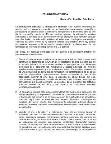 EDUCACIÓN ARTÍSTICA - Red Escolar
