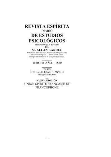 Revista espirita 1860 - Federación Espírita Española