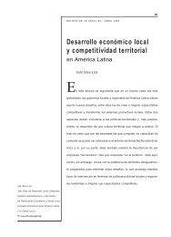 Desarrollo económico local y competitividad territorial en ... - Cepal