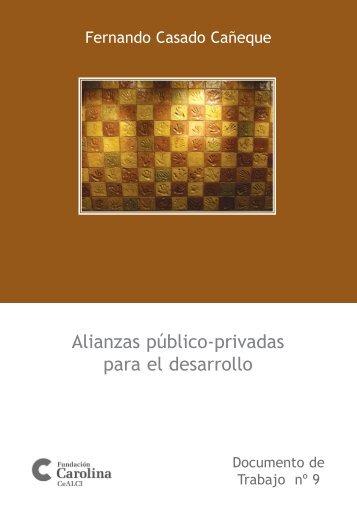 Alianzas público-privadas para el desarrollo - Fundación Carolina